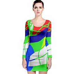 Colorful abstraction Long Sleeve Bodycon Dress