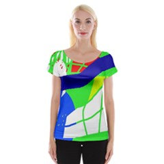 Colorful abstraction Women s Cap Sleeve Top