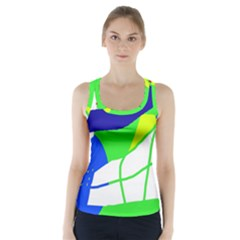 Colorful Abstraction Racer Back Sports Top