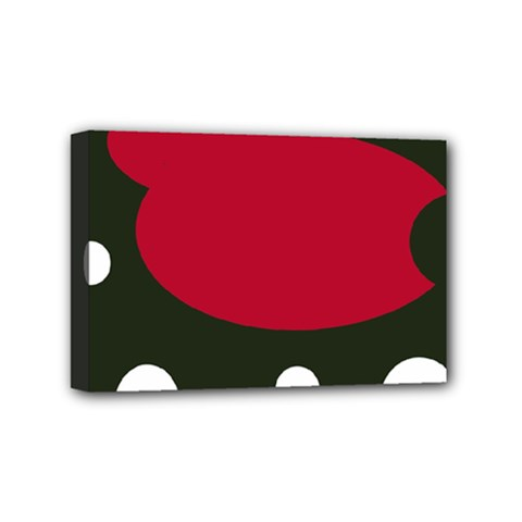 Red, black and white abstraction Mini Canvas 6  x 4