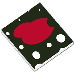 Red, black and white abstraction Small Memo Pads