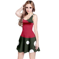 Red, black and white abstraction Reversible Sleeveless Dress