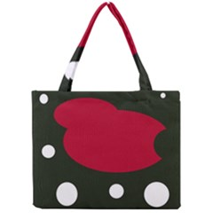 Red, black and white abstraction Mini Tote Bag