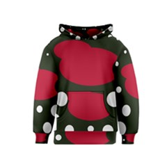 Red, black and white abstraction Kids  Pullover Hoodie