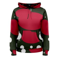 Red, black and white abstraction Women s Pullover Hoodie