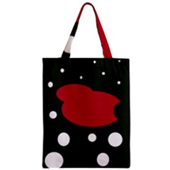 Red, black and white abstraction Zipper Classic Tote Bag
