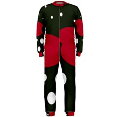 Red, black and white abstraction OnePiece Jumpsuit (Men)