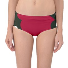 Red, black and white abstraction Mid-Waist Bikini Bottoms