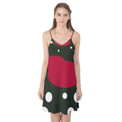 Red, black and white abstraction Camis Nightgown