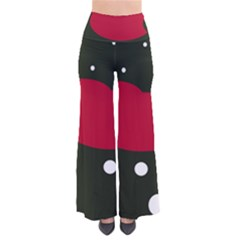Red, Black And White Abstraction Pants