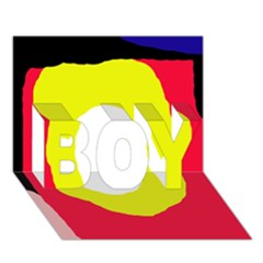 Colorful Abstraction Boy 3d Greeting Card (7x5)