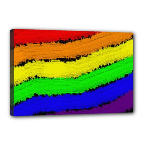 Rainbow Canvas 18  x 12