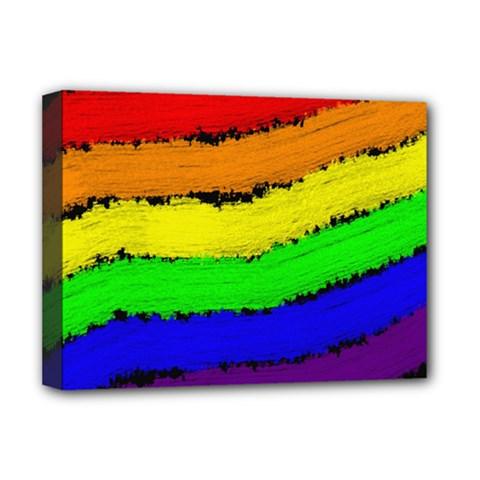 Rainbow Deluxe Canvas 16  x 12