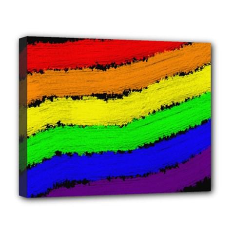 Rainbow Deluxe Canvas 20  x 16