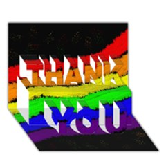 Rainbow THANK YOU 3D Greeting Card (7x5)
