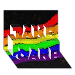 Rainbow TAKE CARE 3D Greeting Card (7x5)