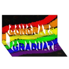 Rainbow Congrats Graduate 3D Greeting Card (8x4)