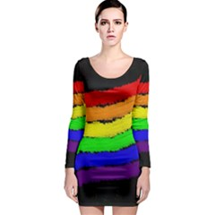 Rainbow Long Sleeve Bodycon Dress