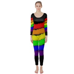 Rainbow Long Sleeve Catsuit