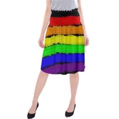 Rainbow Midi Beach Skirt