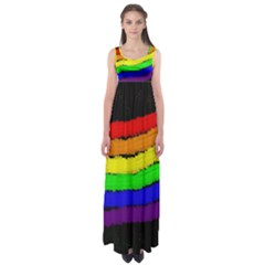 Rainbow Empire Waist Maxi Dress