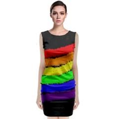 Rainbow Classic Sleeveless Midi Dress