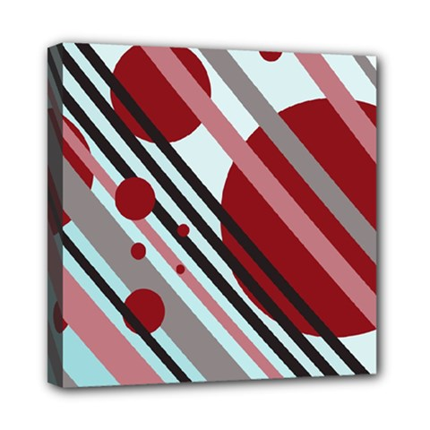 Colorful lines and circles Mini Canvas 8  x 8