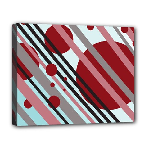 Colorful lines and circles Deluxe Canvas 20  x 16