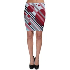 Colorful lines and circles Bodycon Skirt