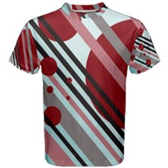 Colorful lines and circles Men s Cotton Tee