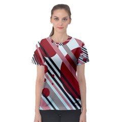 Colorful lines and circles Women s Sport Mesh Tee