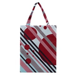 Colorful lines and circles Classic Tote Bag