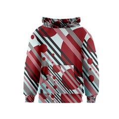 Colorful lines and circles Kids  Pullover Hoodie