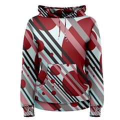 Colorful lines and circles Women s Pullover Hoodie