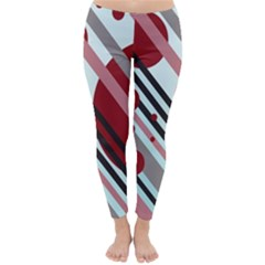 Colorful lines and circles Winter Leggings