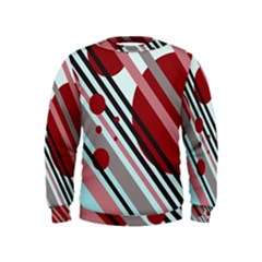 Colorful lines and circles Kids  Sweatshirt