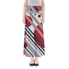 Colorful lines and circles Maxi Skirts