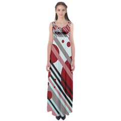 Colorful Lines And Circles Empire Waist Maxi Dress