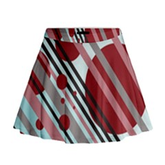 Colorful lines and circles Mini Flare Skirt