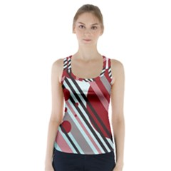Colorful Lines And Circles Racer Back Sports Top