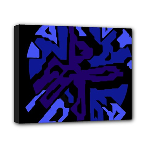 Deep blue abstraction Canvas 10  x 8