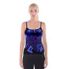 Deep blue abstraction Spaghetti Strap Top