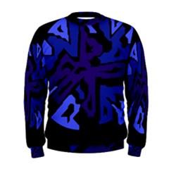 Deep blue abstraction Men s Sweatshirt