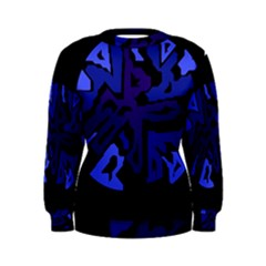 Deep blue abstraction Women s Sweatshirt