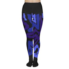 Deep blue abstraction Women s Tights