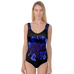 Deep blue abstraction Princess Tank Leotard