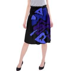 Deep blue abstraction Midi Beach Skirt