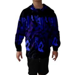 Deep Blue Abstraction Hooded Wind Breaker (kids)