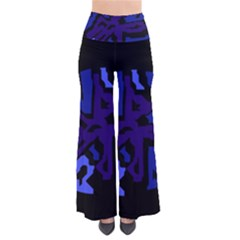 Deep blue abstraction Pants
