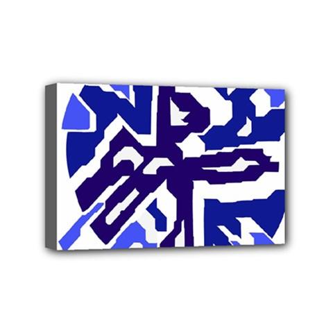 Deep blue abstraction Mini Canvas 6  x 4